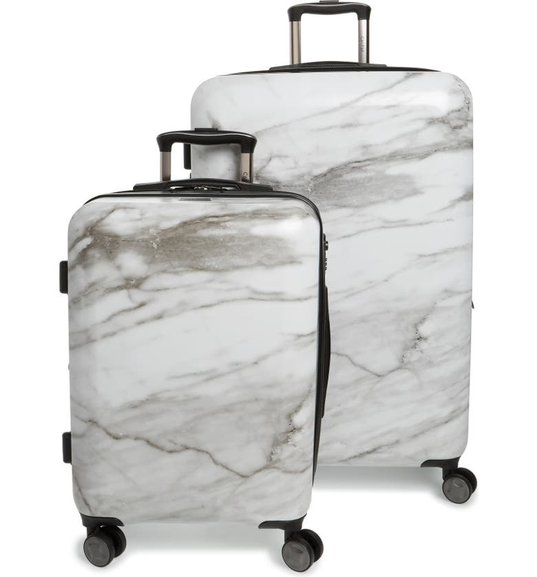 CALPAK Astyll 22-Inch & 30-Inch Spinner Luggage Set, Main, color, MILK MARBLE