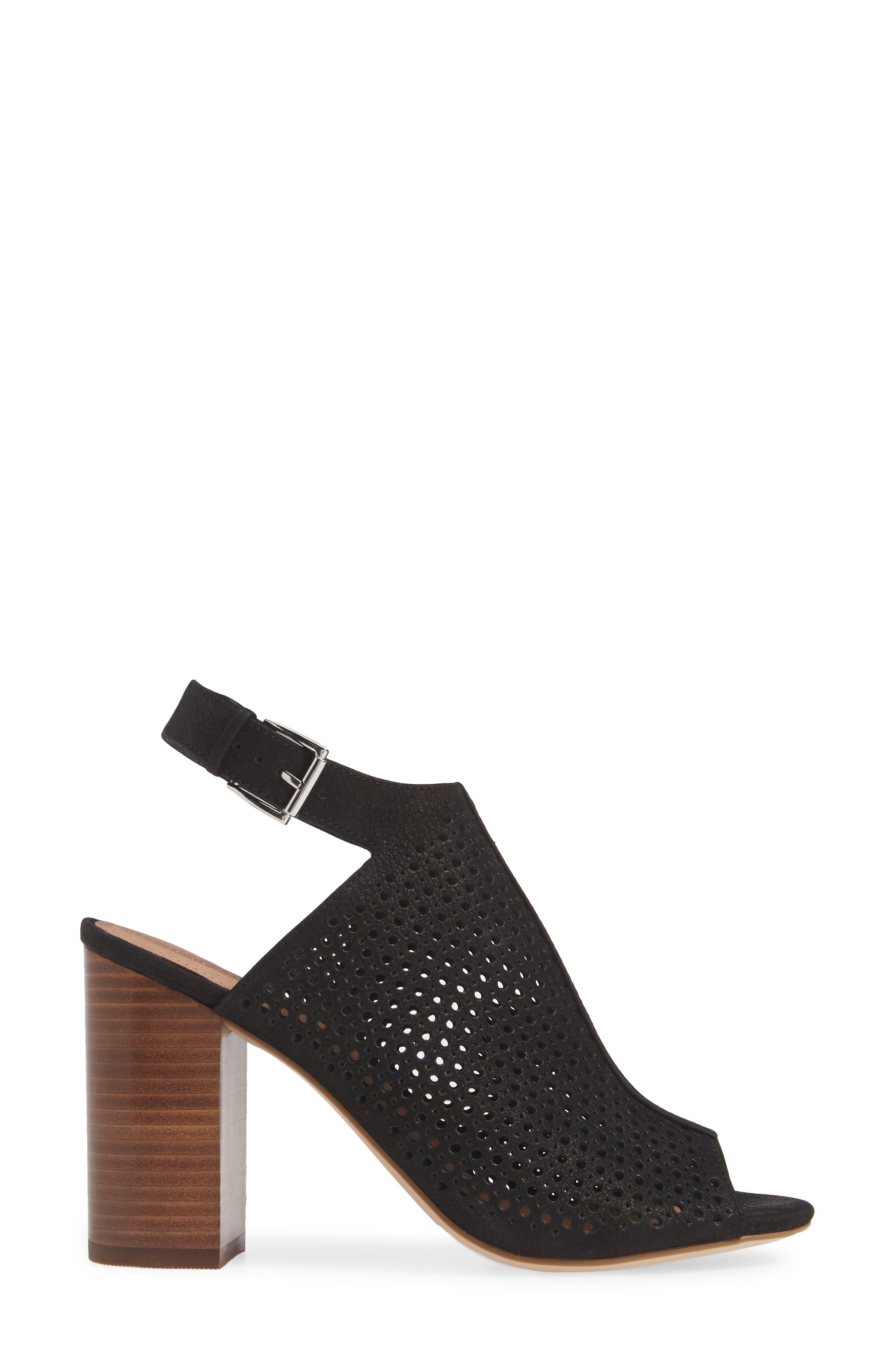 ,                             Demi Perforated Shield Sandal,                             Alternate thumbnail 3, color,                             BLACK OILED NUBUCK