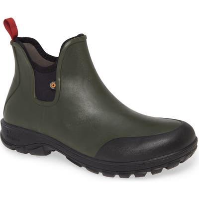 Bogs Sauvie Waterproof Chelsea Boot, Green