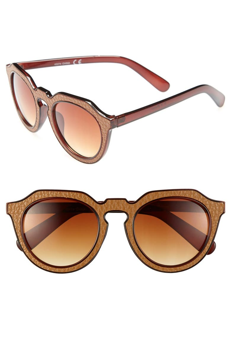 A.J. MORGAN 'Zipster' 50mm Sunglasses, Main, color, 200