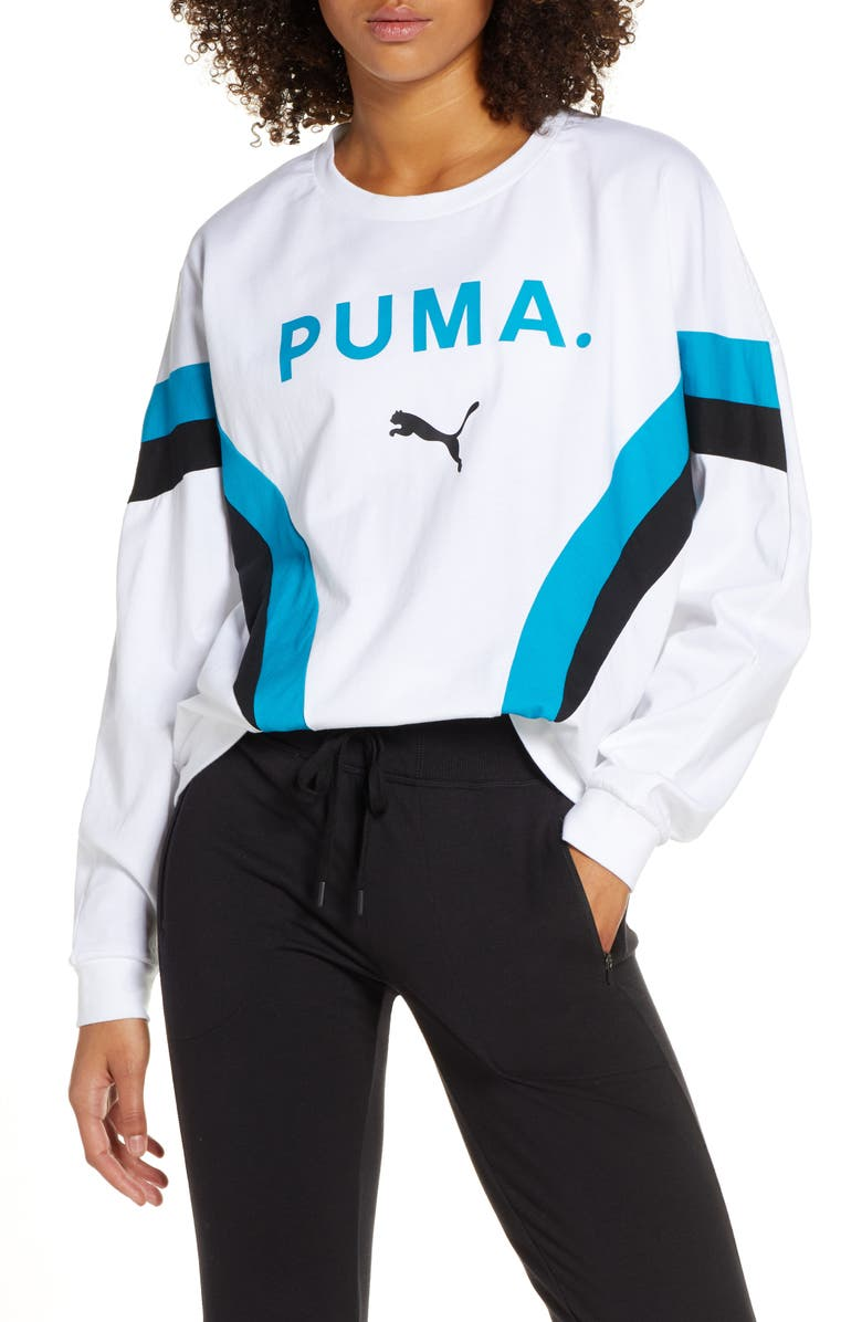 PUMA Chase Sweatshirt, Main, color, 100