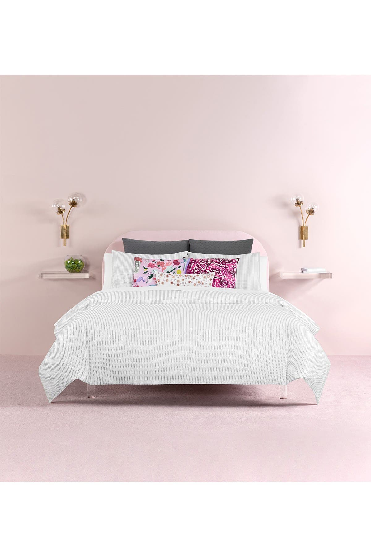 Image of kate spade new york dot dash comforter 3-piece set - king - black/white