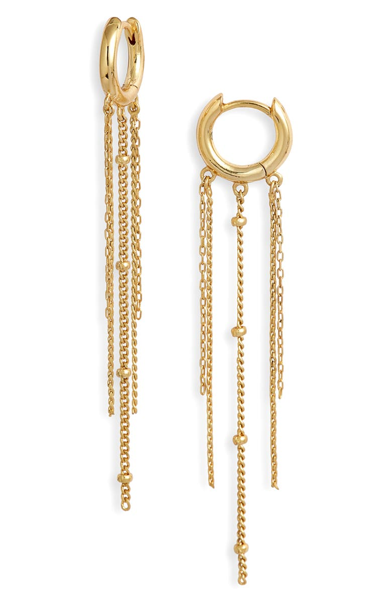 GORJANA Raquet Huggie Drop Earrings, Main, color, GOLD