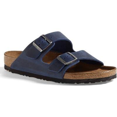 Birkenstock Arizona Soft Slide Sandal,12.5 - Blue