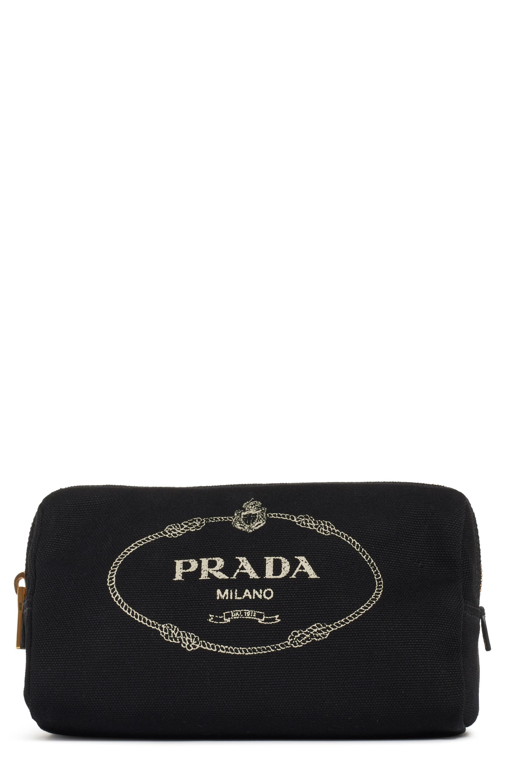 7d12ea917484 Prada Logo Canvas Cosmetic Pouch | Nordstrom