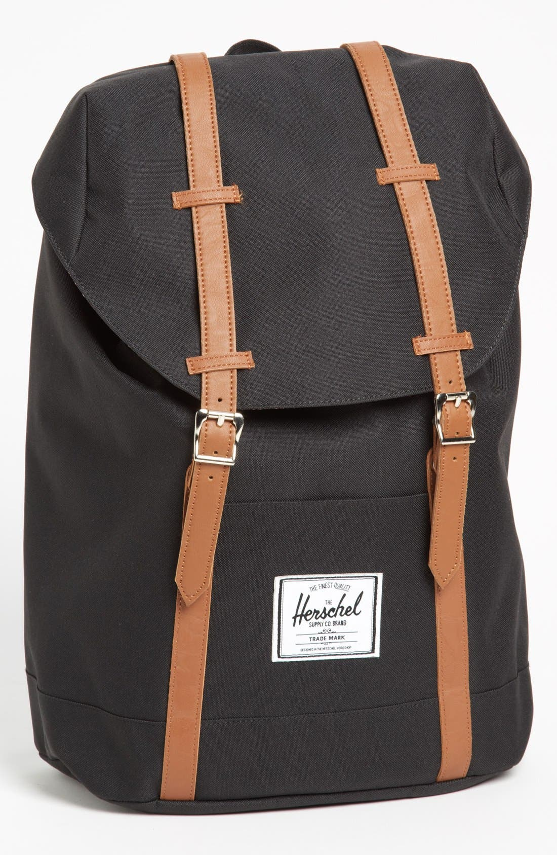 'Retreat' Backpack, Main, color, BLACK