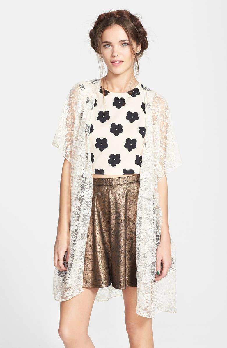 BAND OF GYPSIES Lace Kimono Jacket, Main, color, 900