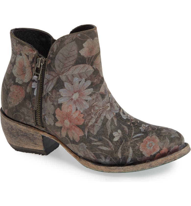LANE BOOTS Moonflower Print Bootie, Main, color, 001