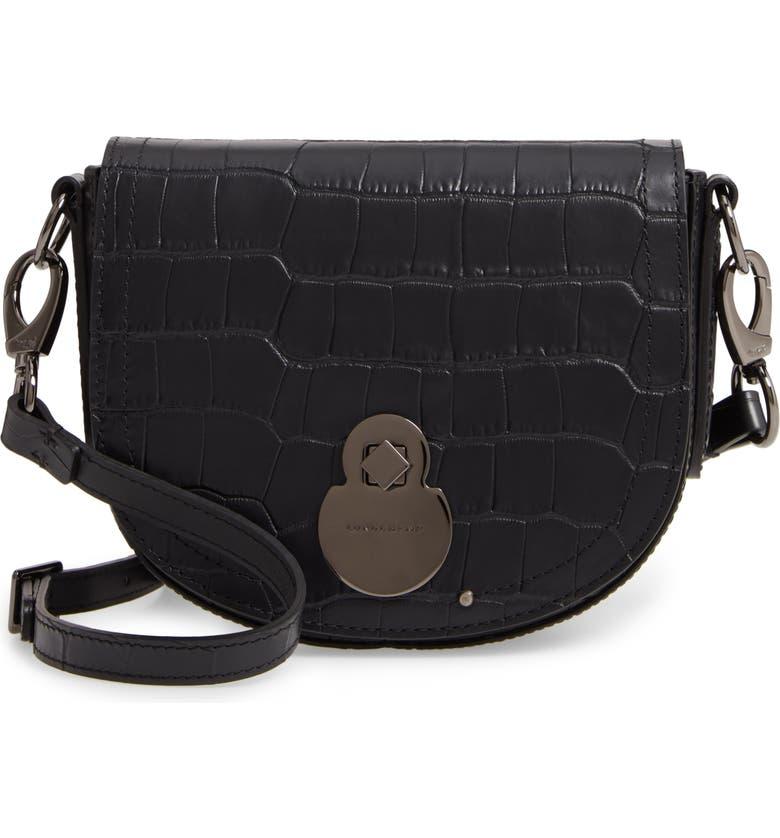 Longchamp Small Cavalcade Crocodile Embossed Leather Crossbody Bag ...
