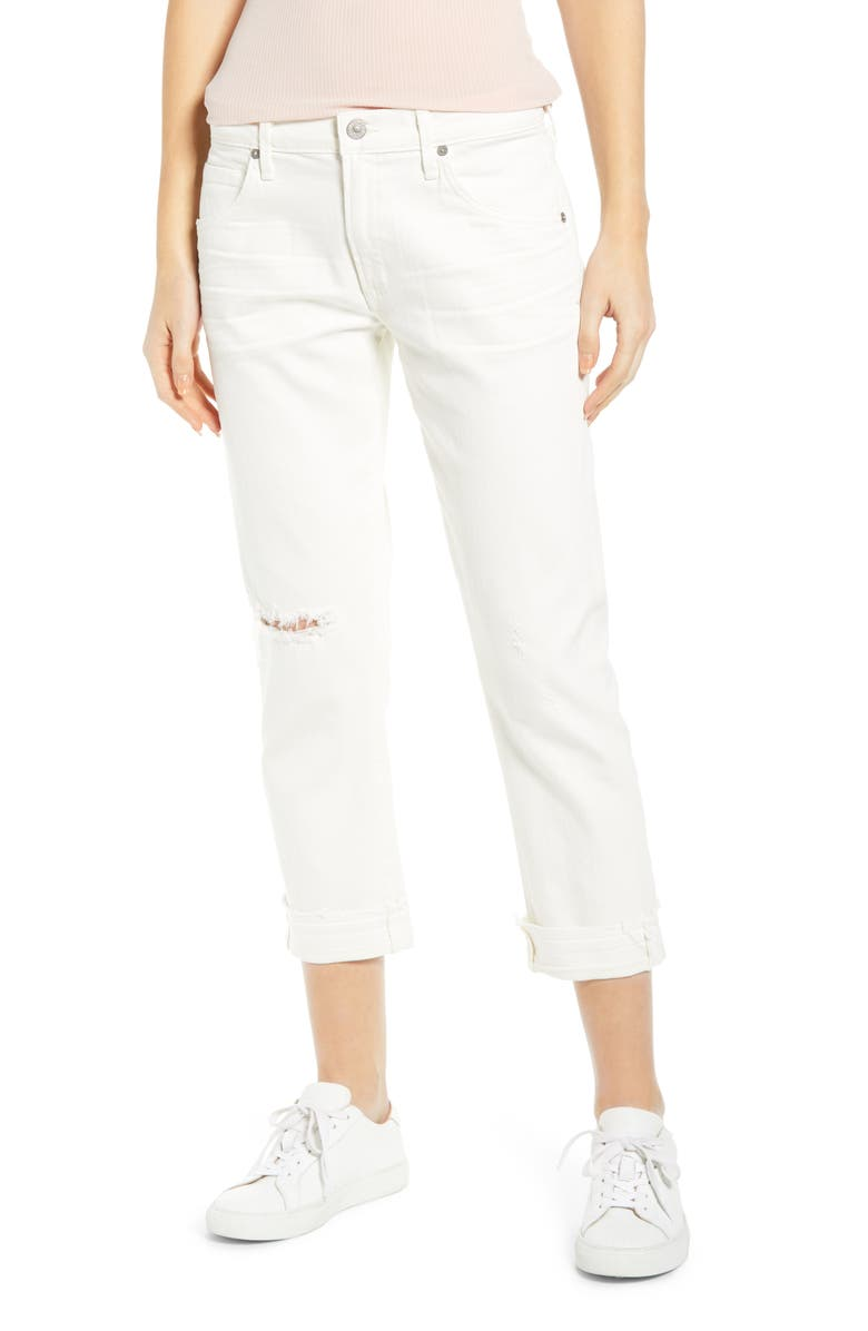 CITIZENS OF HUMANITY Emerson Crop Slim Boyfriend Jeans, Main, color, 120
