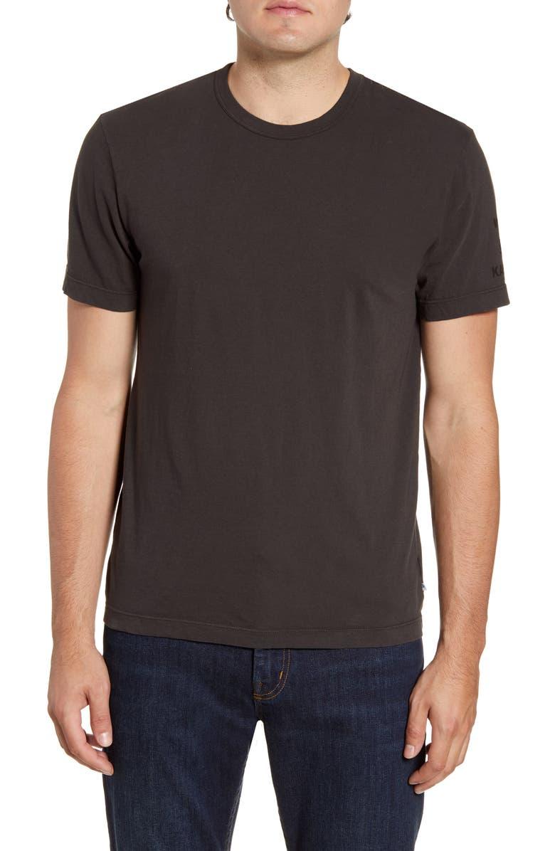 JAMES PERSE Slim Fit Palm Graphic T-Shirt, Main, color, CARBON