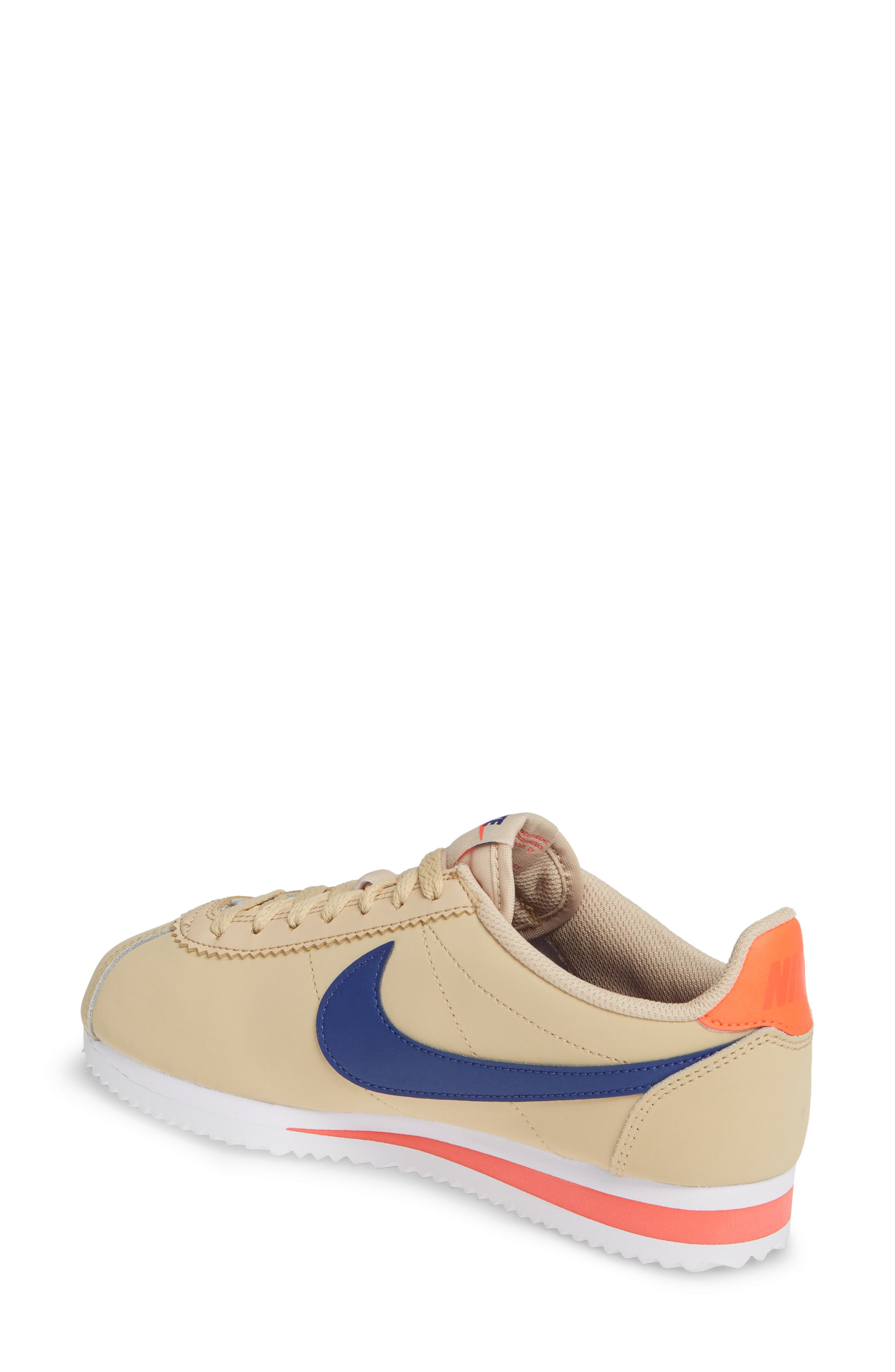,                             Classic Cortez Sneaker,                             Alternate thumbnail 2, color,                             DESERT ORE/ DEEP ROYAL BLUE