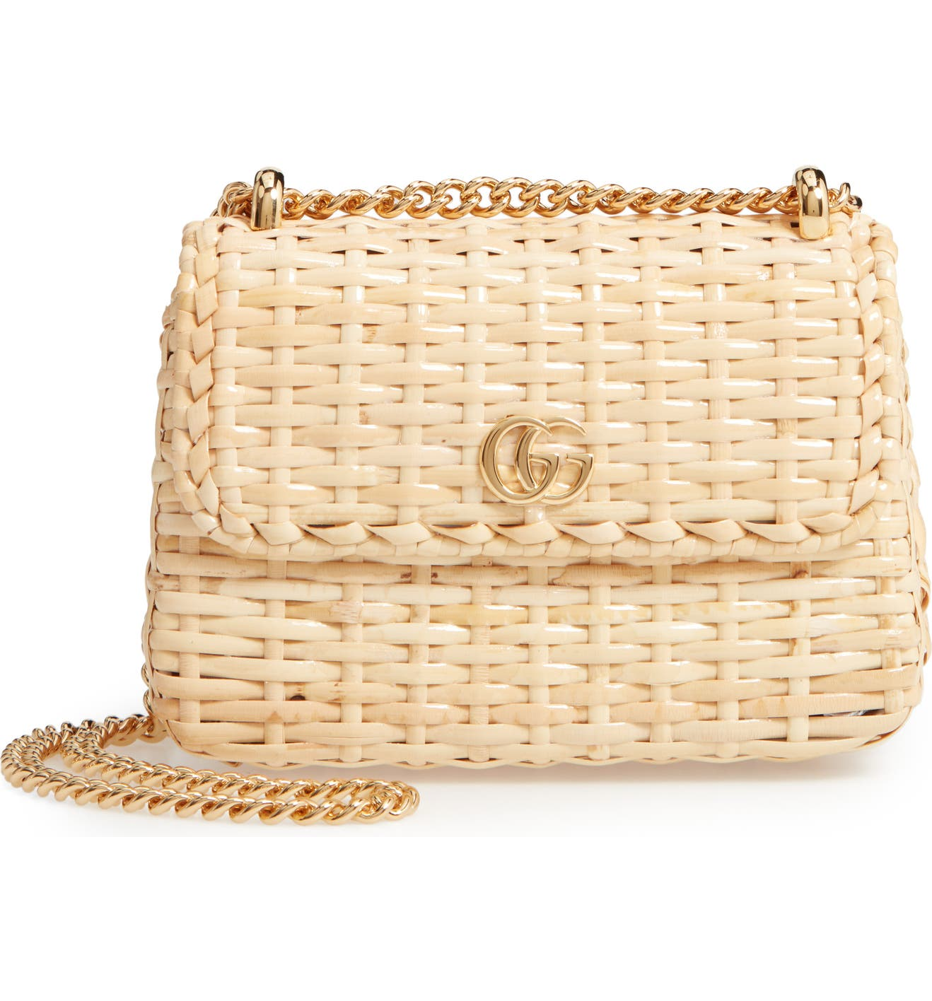 ca0591284d5ef8 Gucci Linea Cestino Glazed Wicker Mini Shoulder Bag | Nordstrom