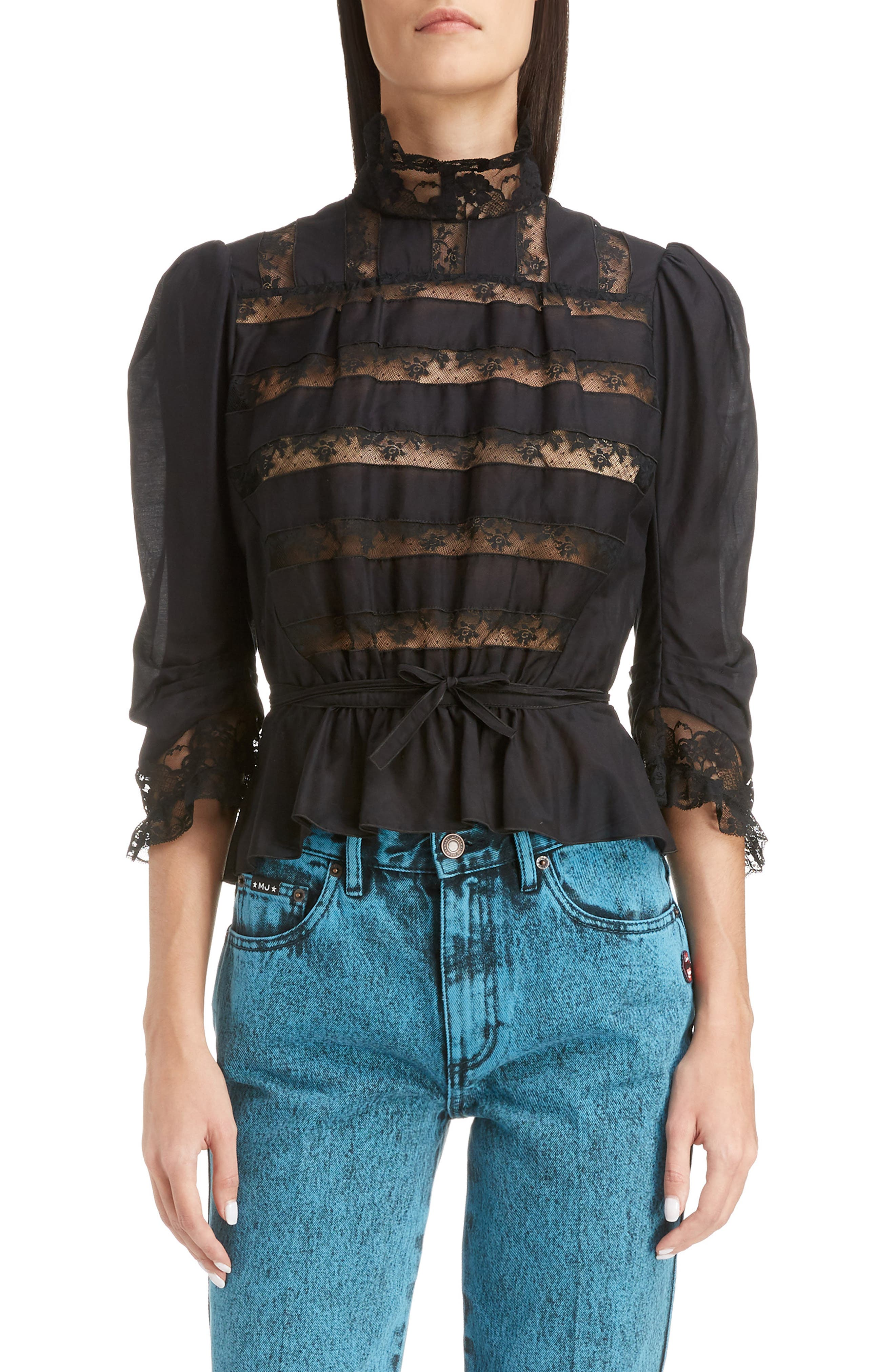 Victorian Blouses, Tops, Shirts, Sweaters Womens Marc Jacobs The Victorian Blouse $375.00 AT vintagedancer.com