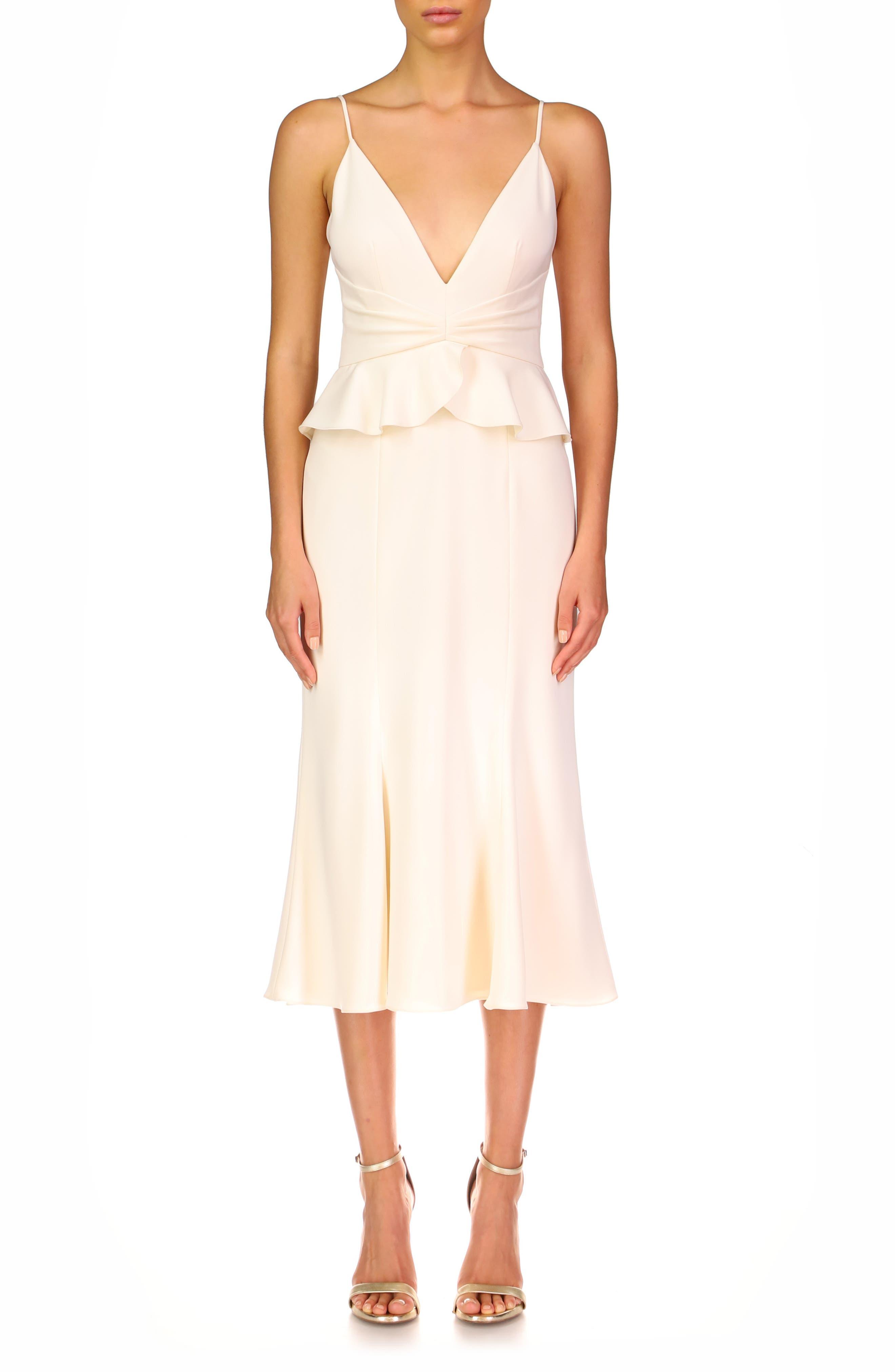 Peplum Waist Cocktail Dress