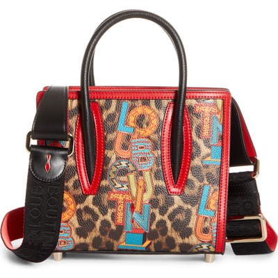 Christian Louboutin Mini Paloma Loubielo Print Calfskin Leather Satchel - Brown (Nordstrom Exclusive)