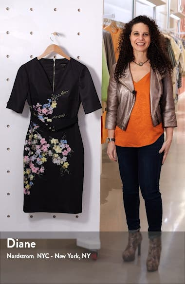 Soliaa Pergola Floral Body-Con Dress, sales video thumbnail