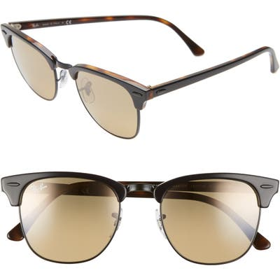 Ray-Ban Clubmaster 51mm Sunglasses - Grey/ Havana/ Brown