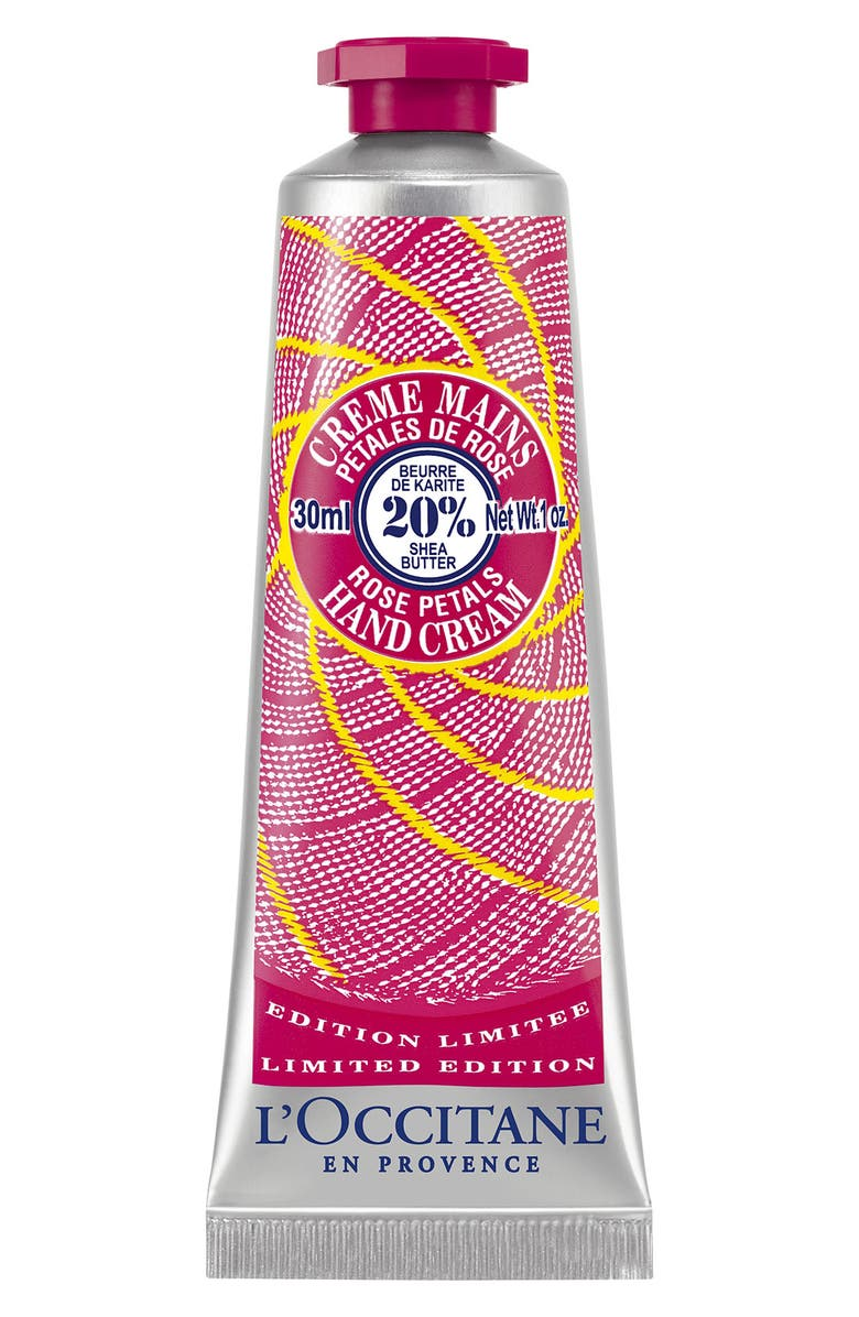 L'OCCITANE 'Shea Rose Petals' Hand Cream, Main, color, 000