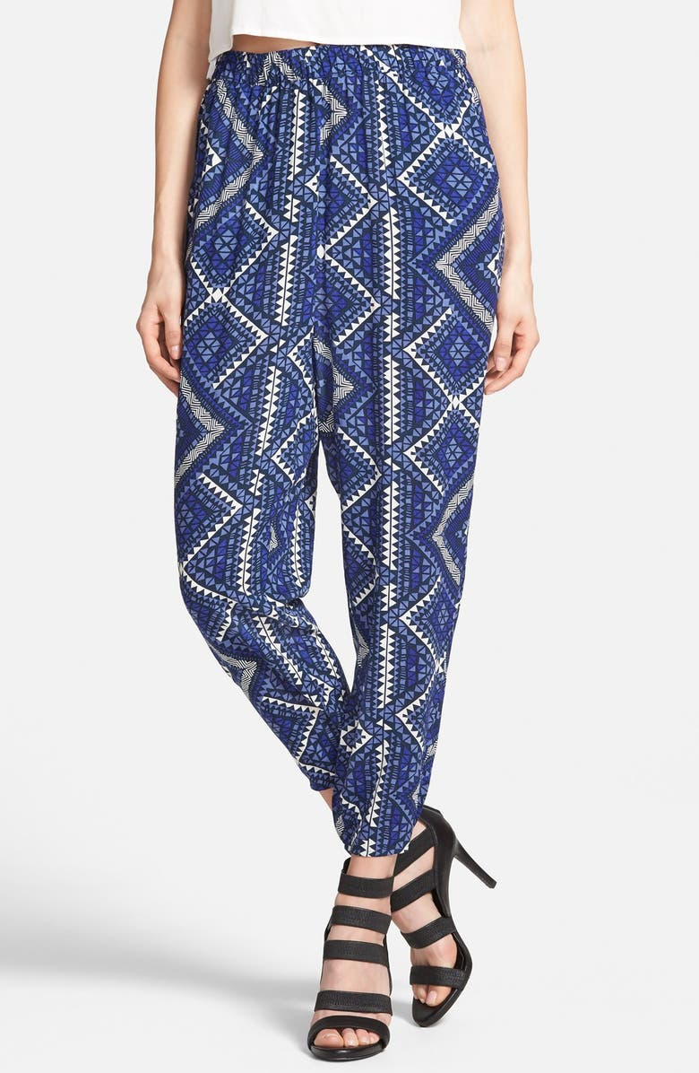 LEITH Crop Print Pants, Main, color, 410