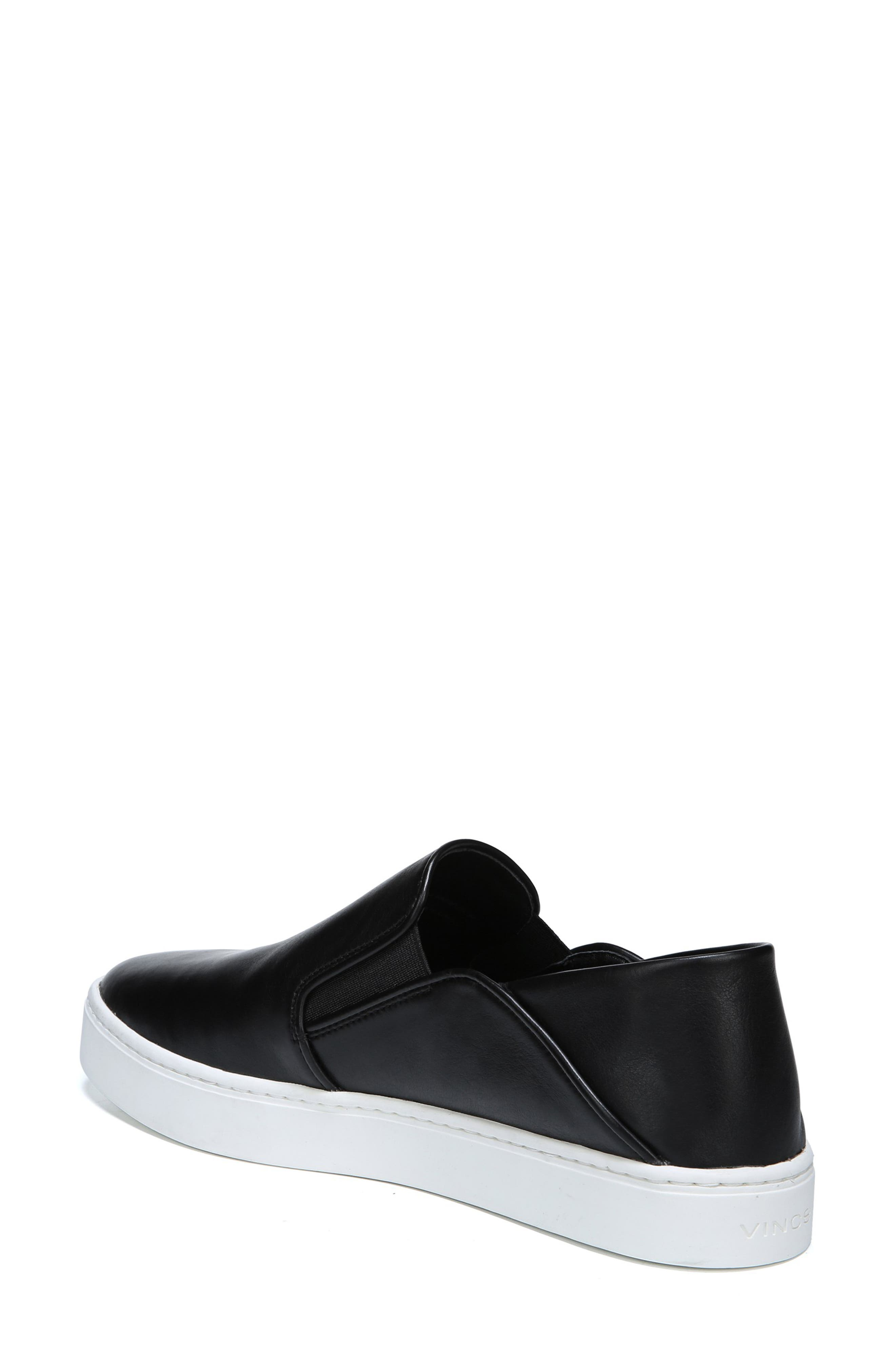 ,                             Garvey Slip-On Sneaker,                             Alternate thumbnail 2, color,                             BLACK LEATHER