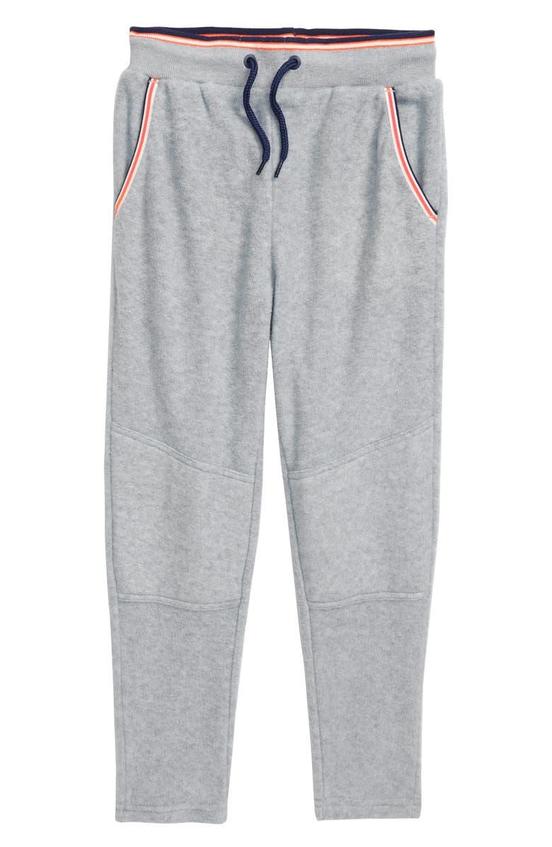 MINI BODEN Microfleece Jogger Pants, Main, color, GREY MARL