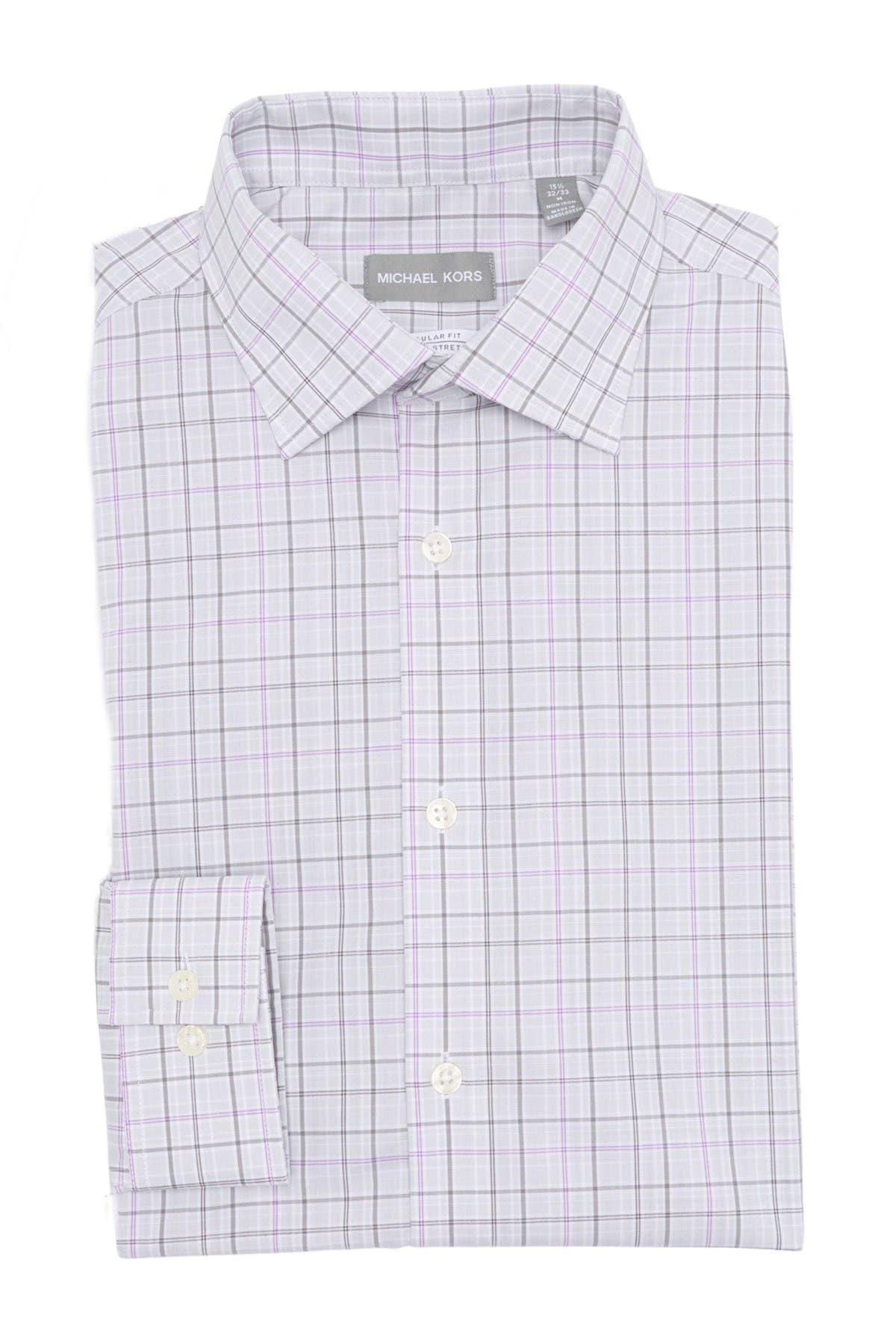 Image of MICHAEL Michael Kors Check Print Regular Fit Shirt