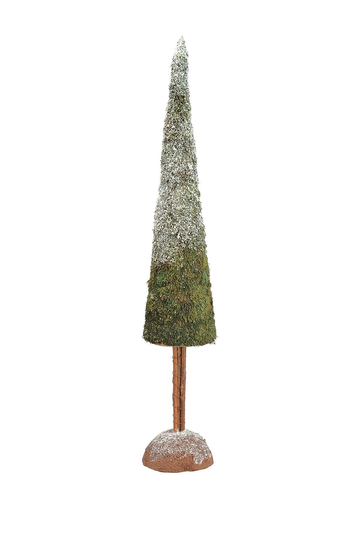 """Image of ALLSTATE 28"""" Iced Sisal Cone Topiary on Stand"""