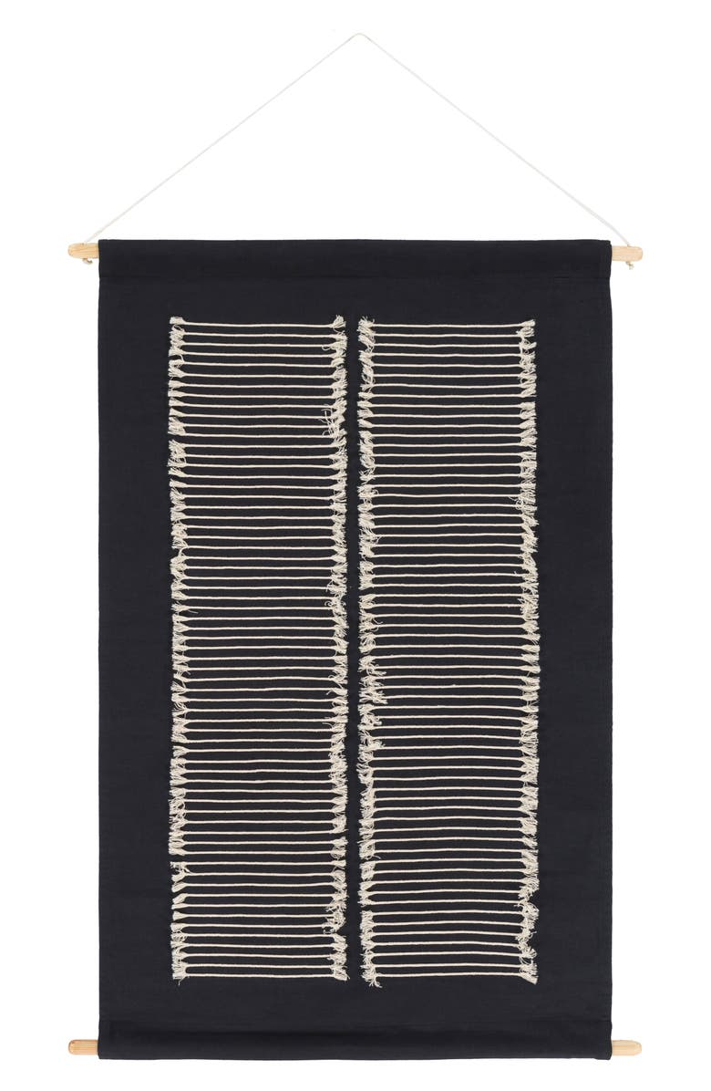 SURYA HOME Savion Wall Hangings, Main, color, BLACK