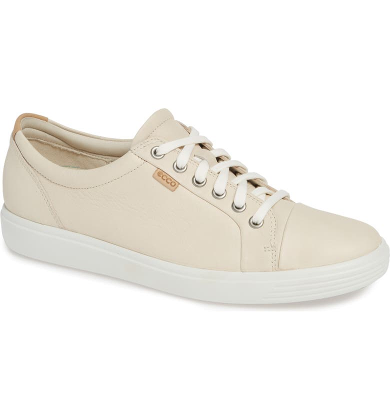 ECCO Soft 7 Sneaker, Main, color, METALLIC VANILLA LEATHER