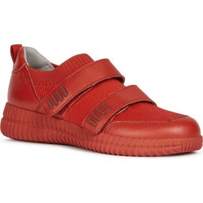 Geox Novae Sneaker, Red