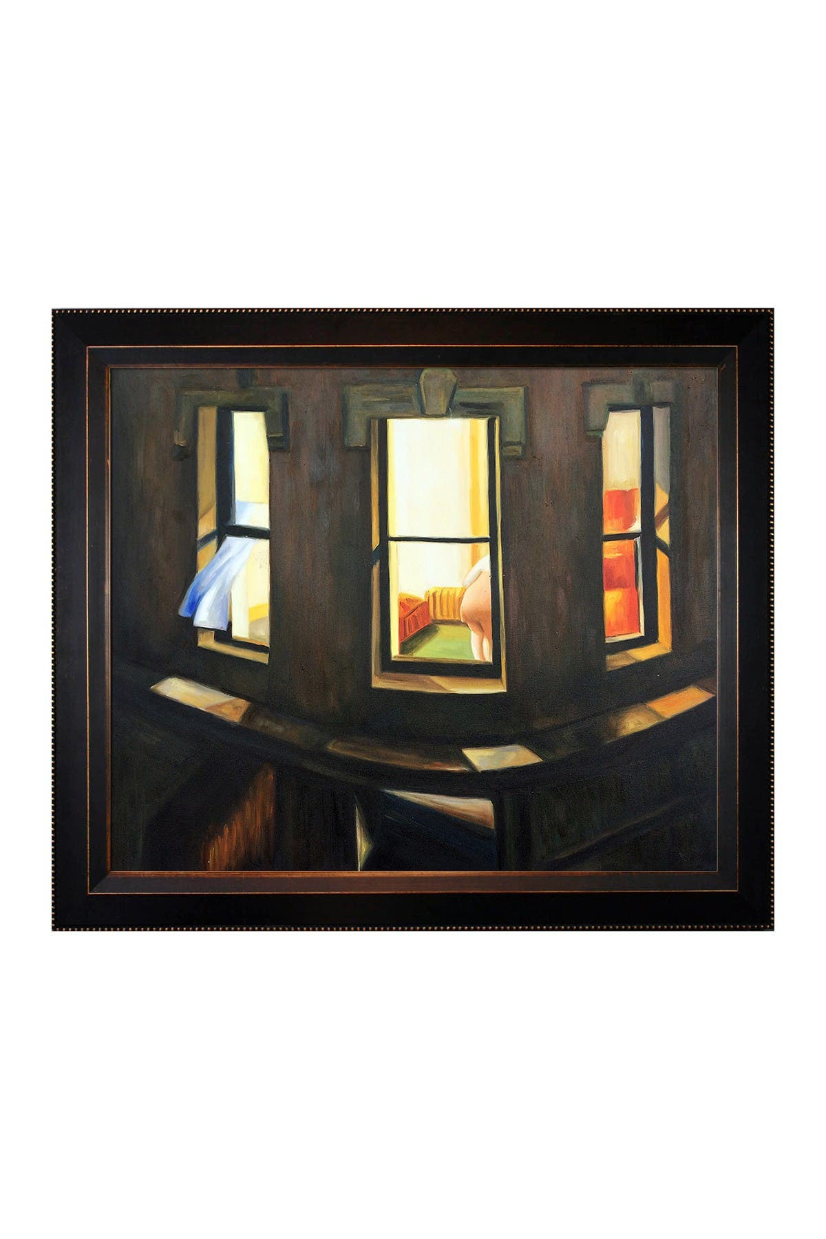 Overstock Art Night Windows By Edward Hopper Framed Canvas Wall Art Nordstrom Rack