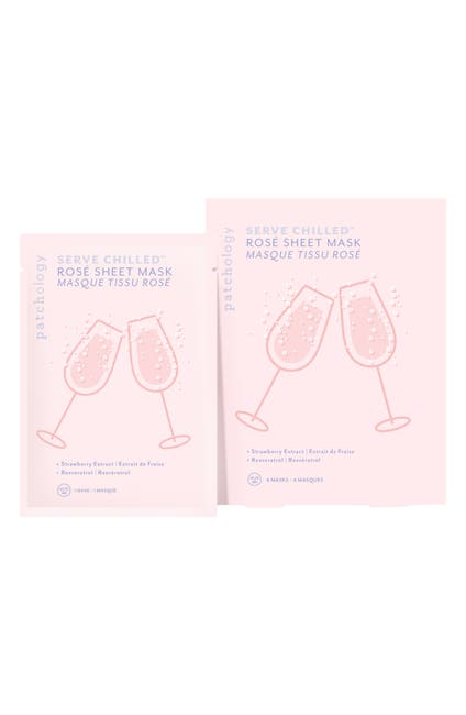 Image of Patchology Serve Chilled Rosé Sheet Mask - Pack of 4