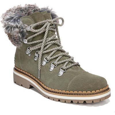 Sam Edelman Bowen Faux Fur Trim Bootie, Green