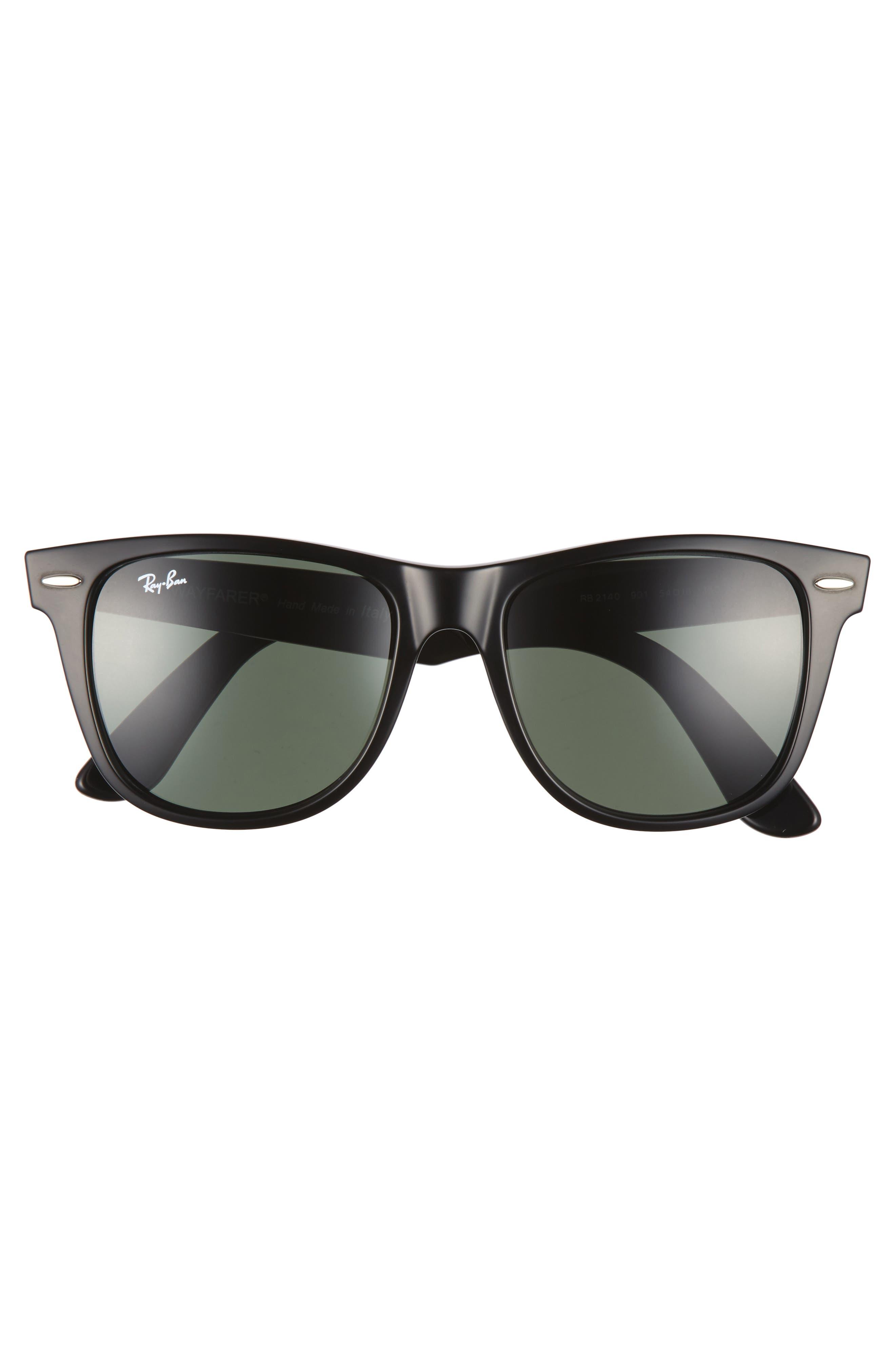 ,                             Classic Wayfarer 54mm Sunglasses,                             Alternate thumbnail 2, color,                             BLACK/ GREEN