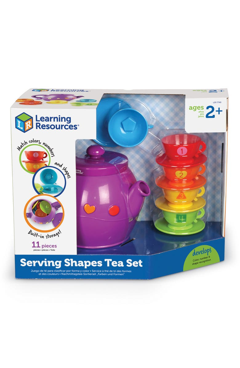 LEARNING RESOURCES Serving Shapes Tea Set, Main, color, MULTI