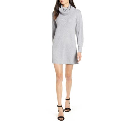 Cupcakes And Cashmere Kiara Turtleneck Sweater Dress, Grey