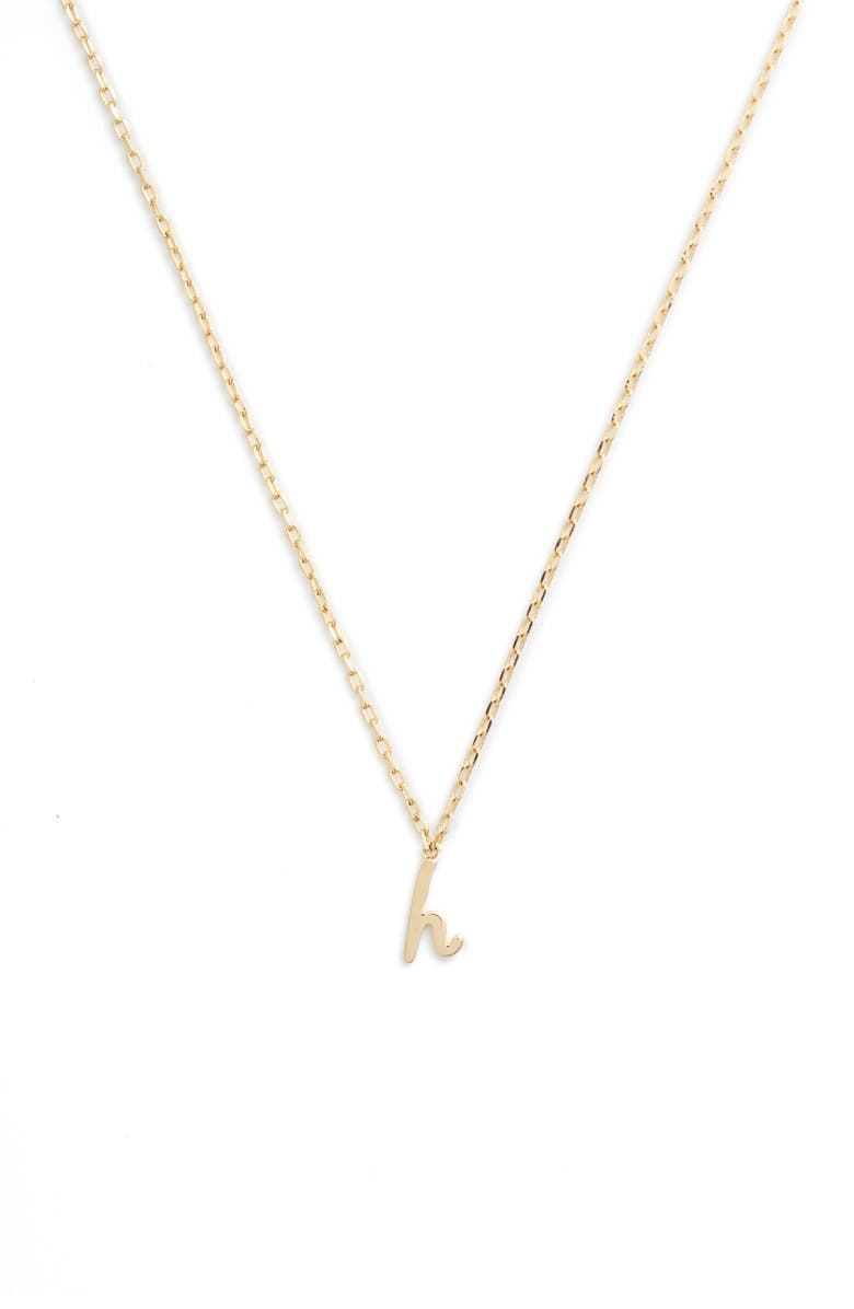 KATE SPADE NEW YORK kate spade one in a million initial pendant necklace, Main, color, H-GOLD