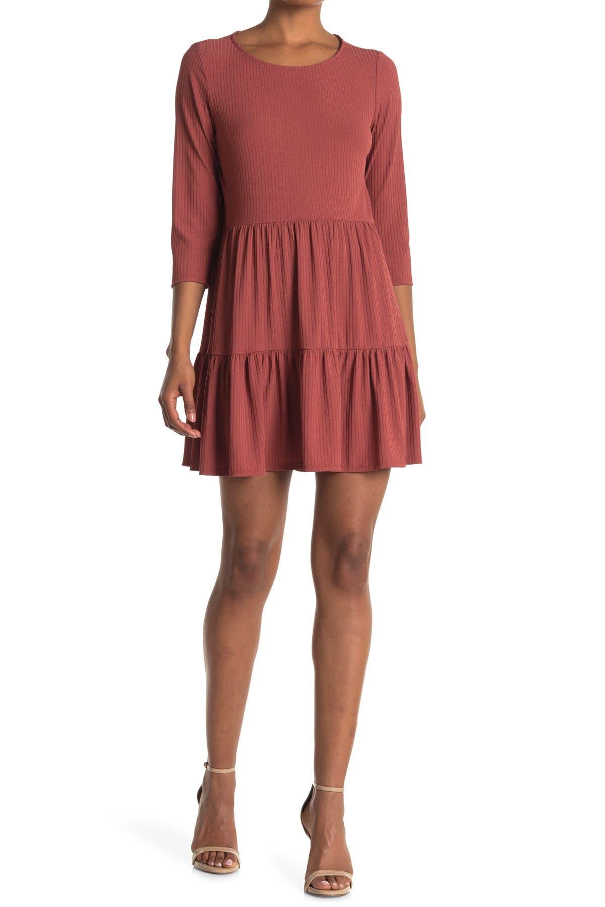 Image of TASH + SOPHIE Long Sleeve Tiered Dress
