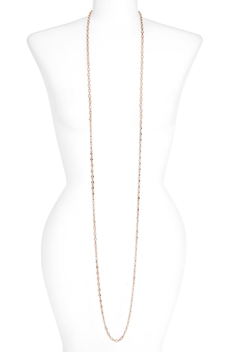 LISA FREEDE Perfect Extra Long Necklace, Main, color, ROSE GOLD
