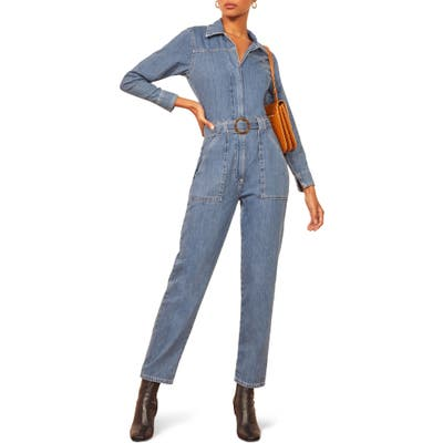 Reformation Rex Boiler Jumpsuit, Blue