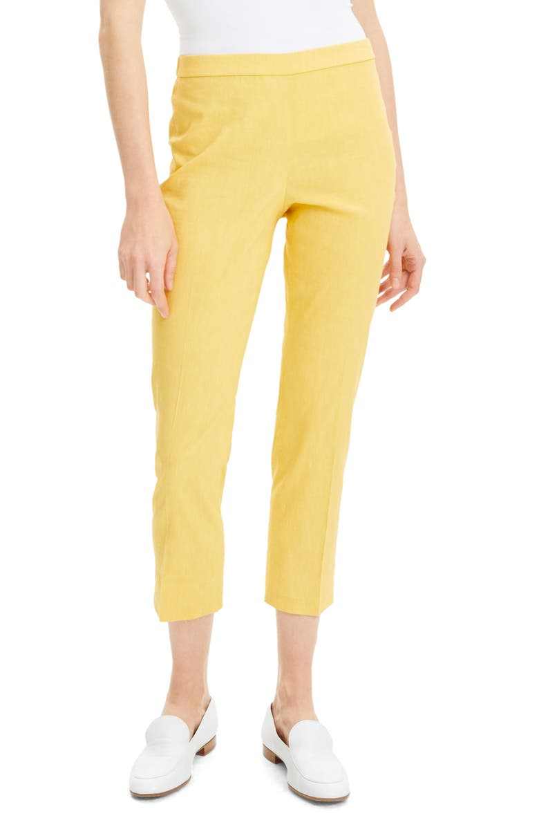 THEORY Linen Blend Pull-On Slim Pants, Main, color, 797