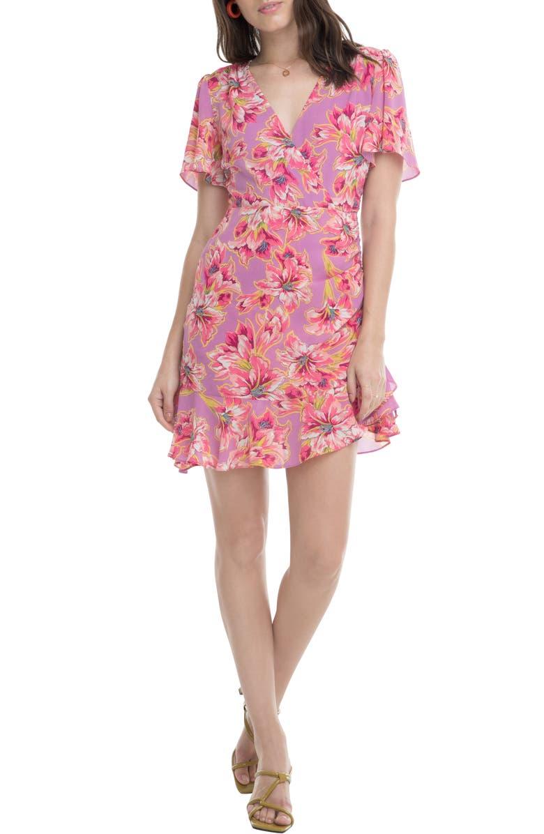 Elizabeth Minidress, Main, color, LAVENDER-PINK FLORAL