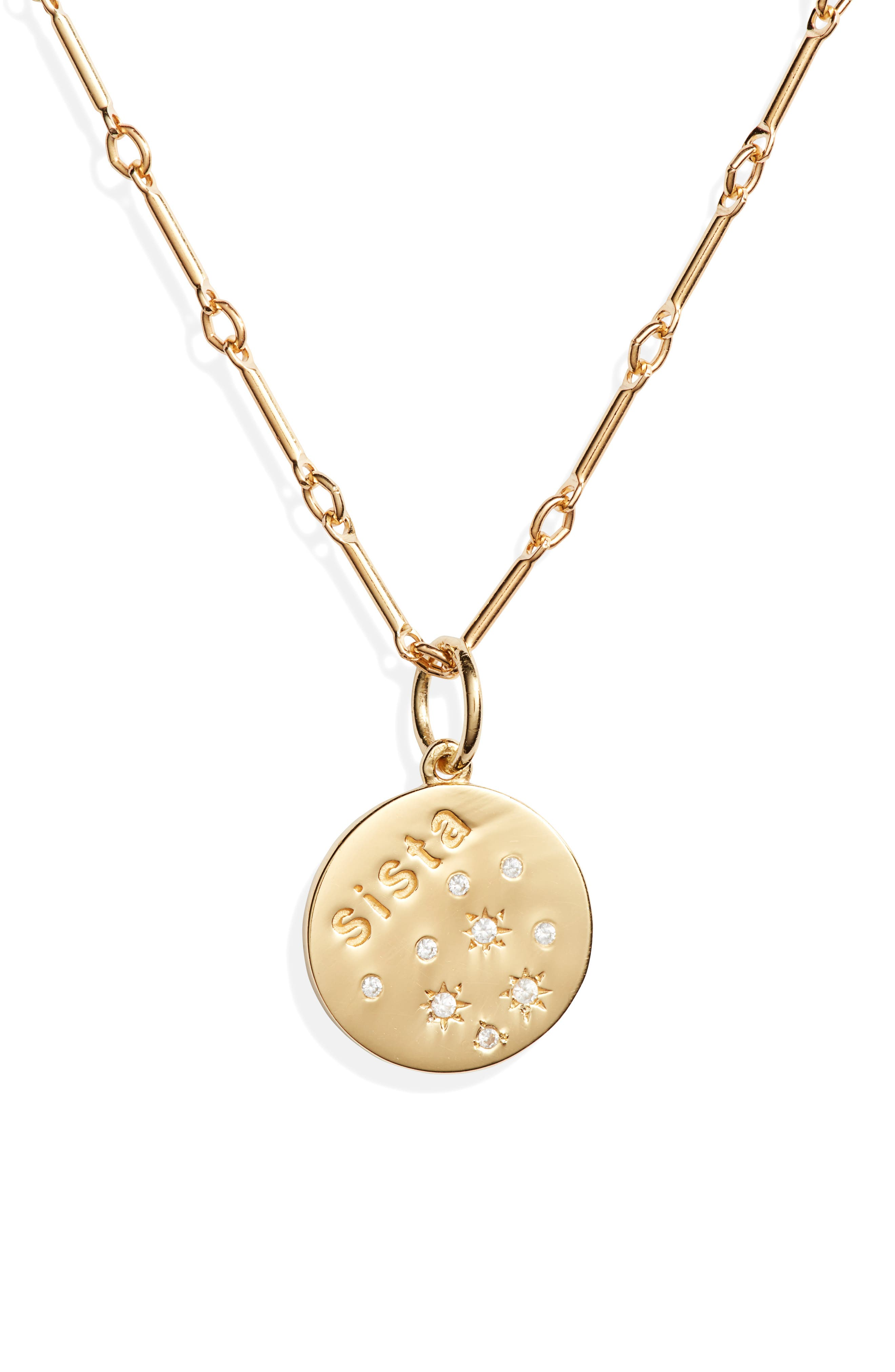 Sista Disc Pendant Necklace