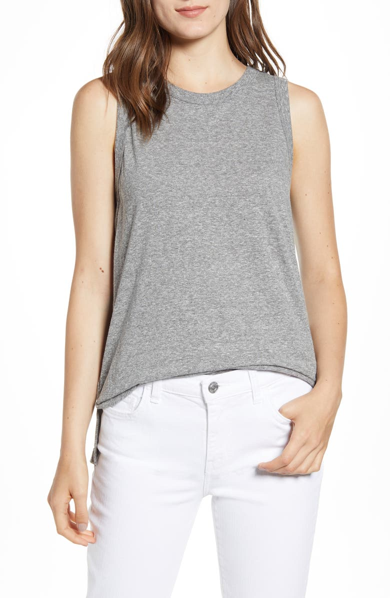 CURRENT/ELLIOTT The Muscle Tank Top, Main, color, HEATHER GREY