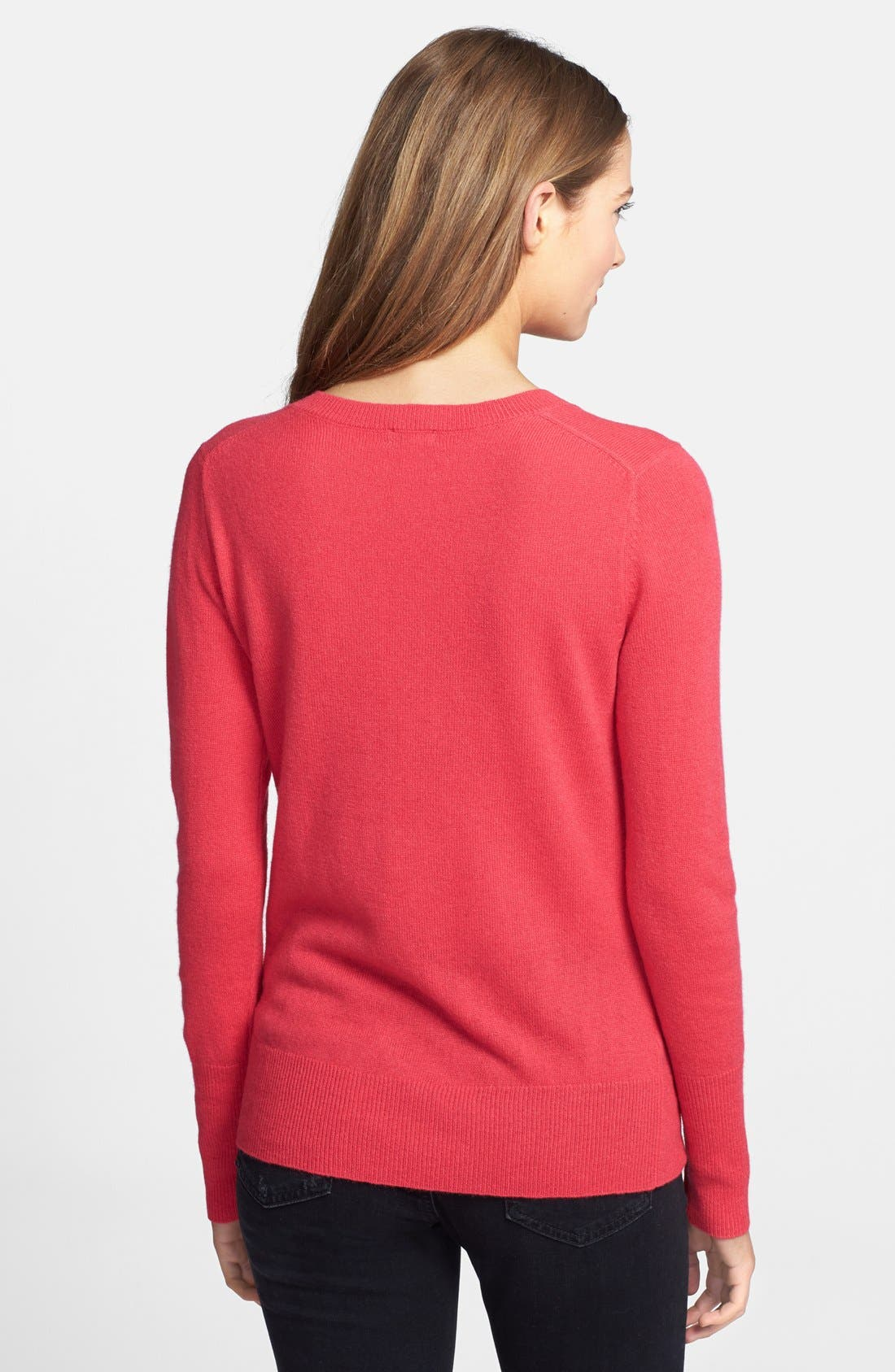 ,                             Cashmere V-Neck Sweater,                             Alternate thumbnail 87, color,                             653