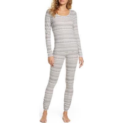 Plus Size Bp. Hacci Fitted Pajamas, Grey