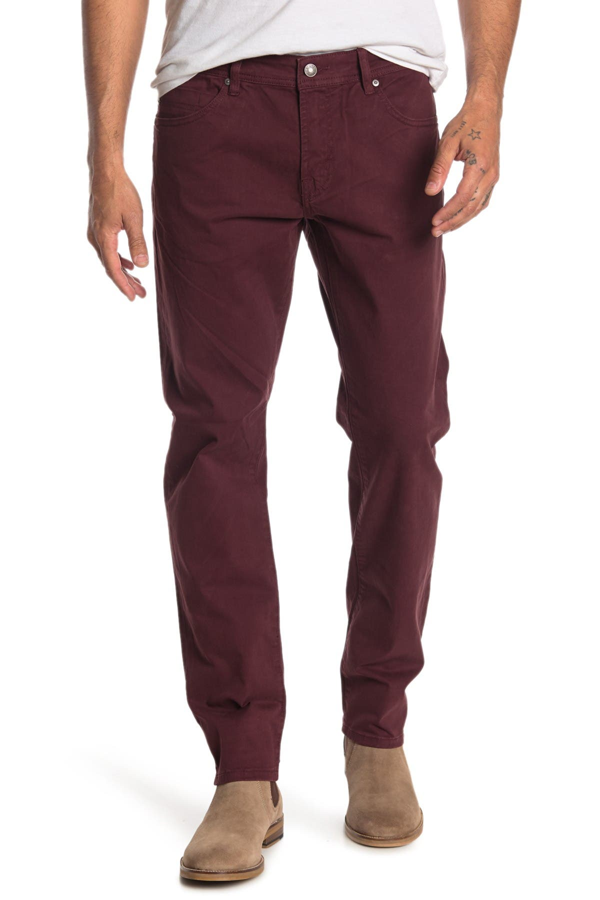 Image of Liverpool Jeans Co Kingston Modern Slim Straight Twill Pants
