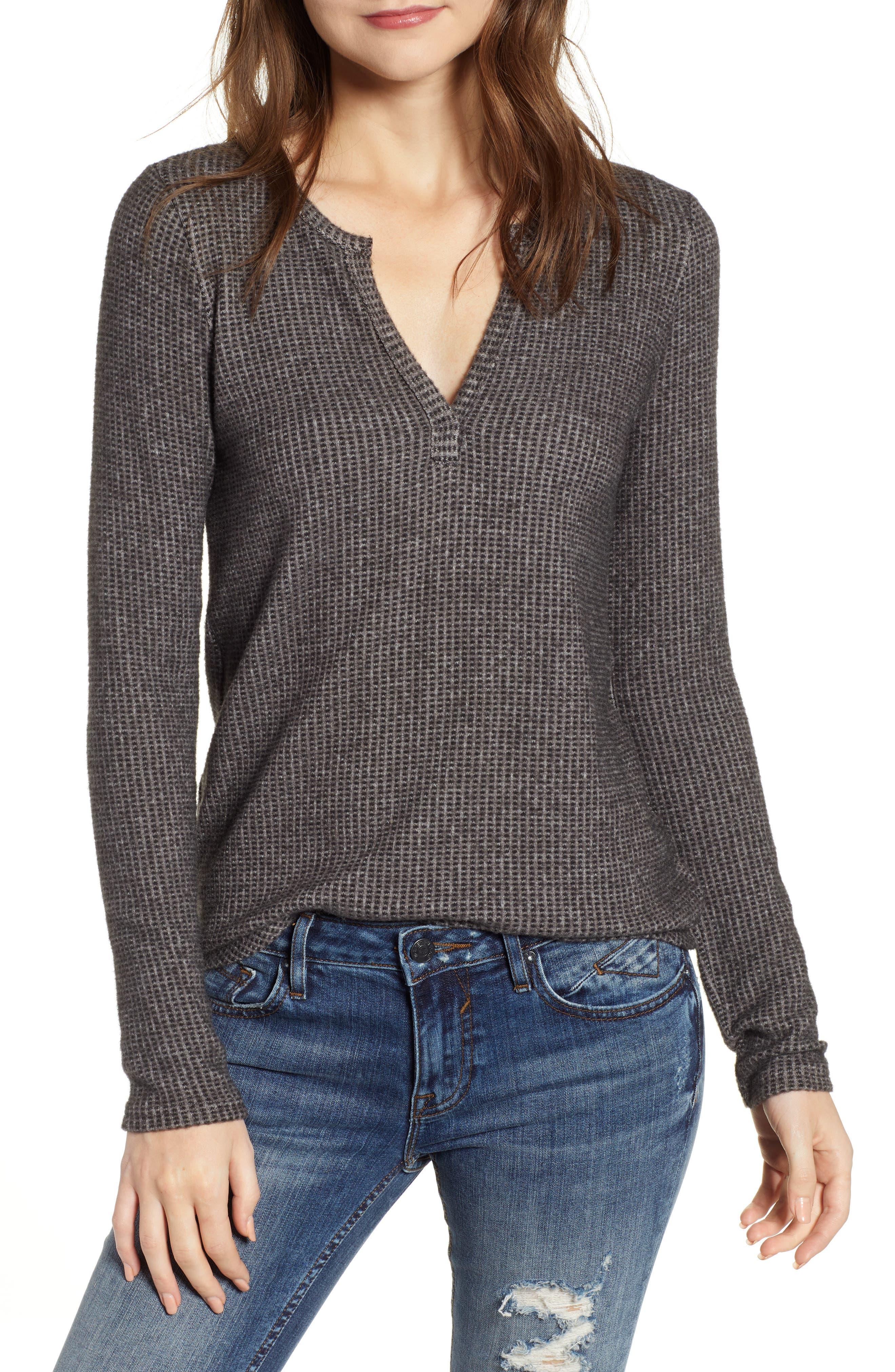 Cozy Rib Knit Top, Main, color, 020