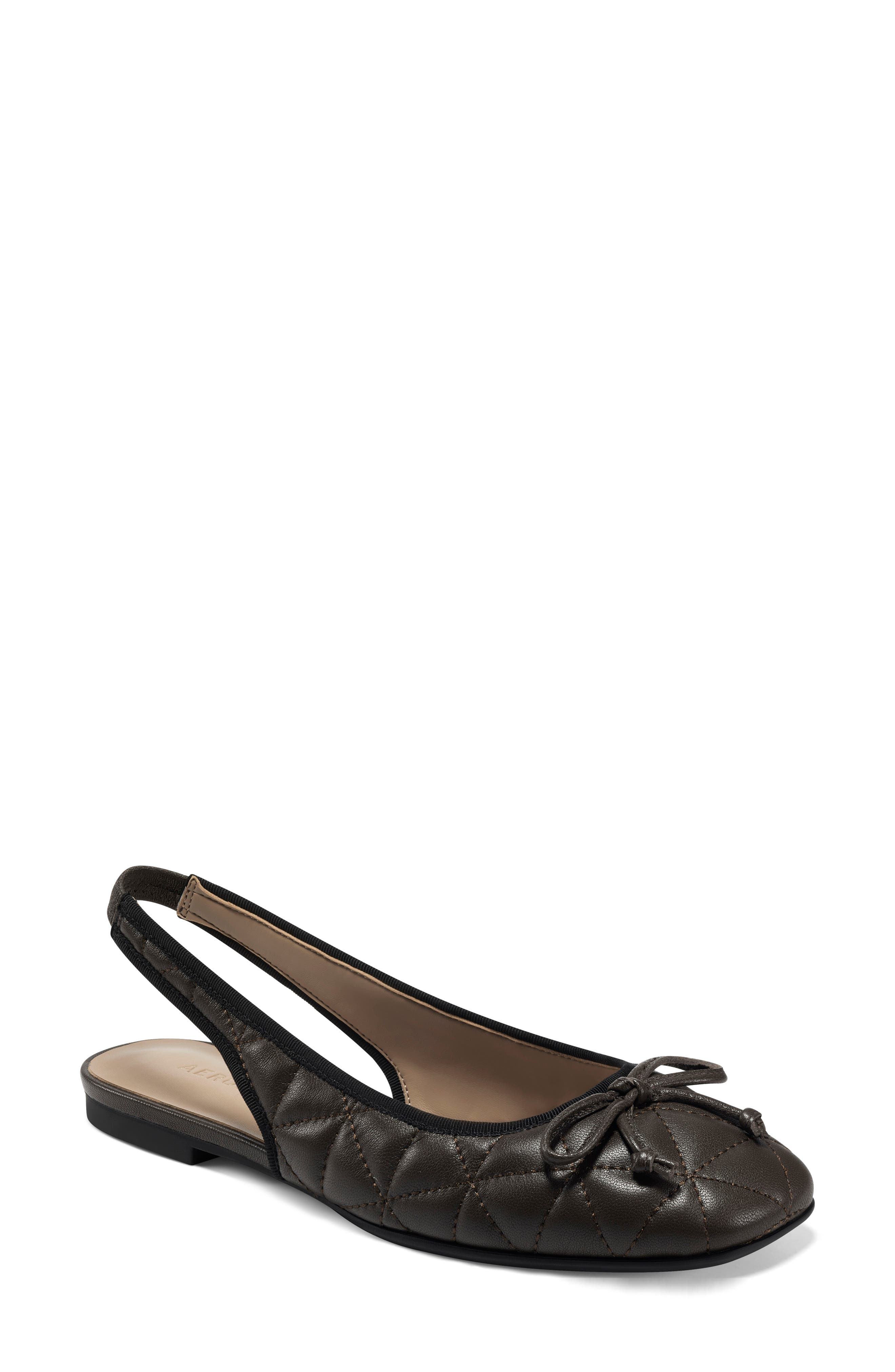 Catarina Quilted Slingback Flat